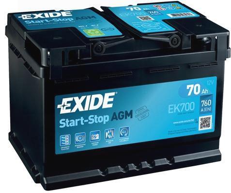 Akkumulátor 12V 70Ah 760A, Start-Stop AGM