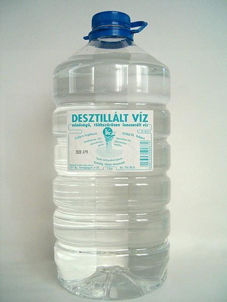 Desztillált víz 5L-es