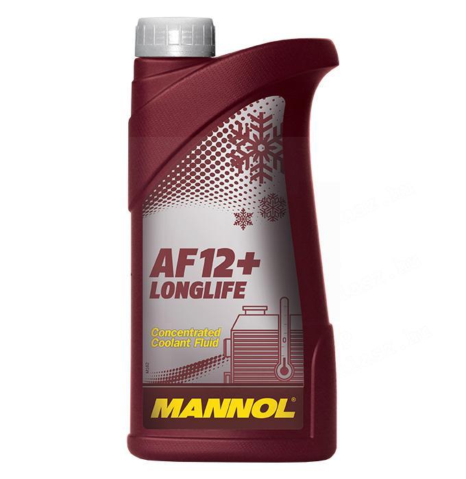 MANNOL Longlife Antifreeze AF12+ Fagyálló (tömény, piros) AF12+ 1L